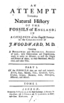 Woodward: Natural History of Fossils of England