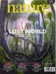 March 1 cover of Nature magazine.  The image is an artistic reconstruction of what a 390 million year old forest preserved in a New York quarry would have looked like.