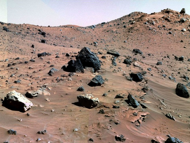 Iron Meteorites Seen by Spirit Rover on Mars