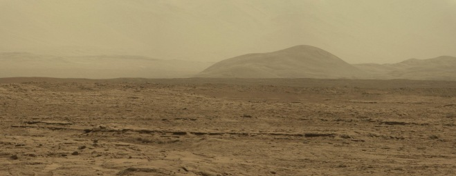 Valley panorama of Mars landscape
