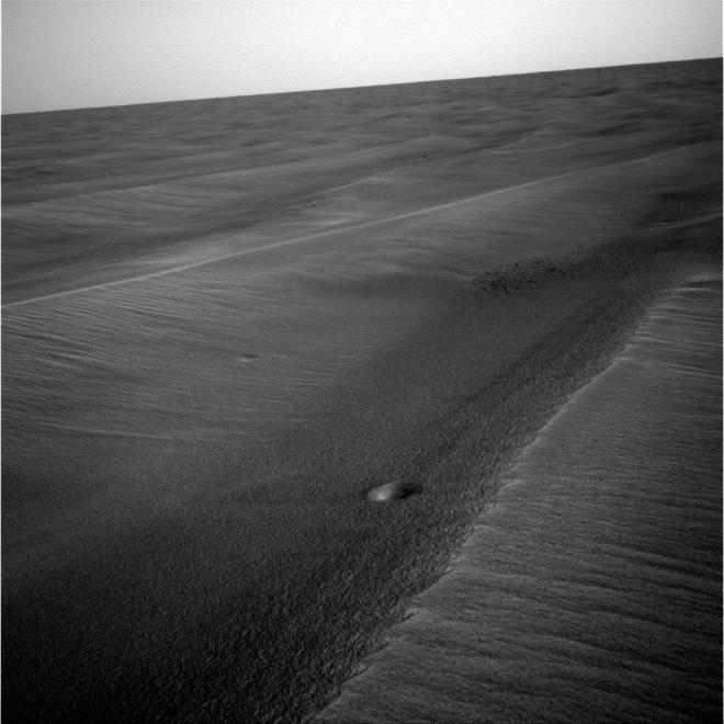 Small  meteorite impact on mars