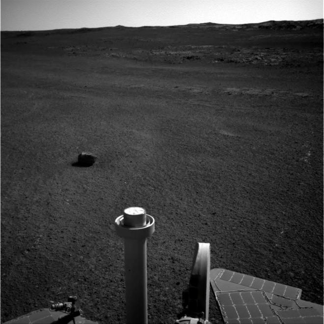 meteorite on mars - opportunity rover
