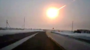 The chebli9ska meteorite atmospheric explosion as caught on dashcam of truck..