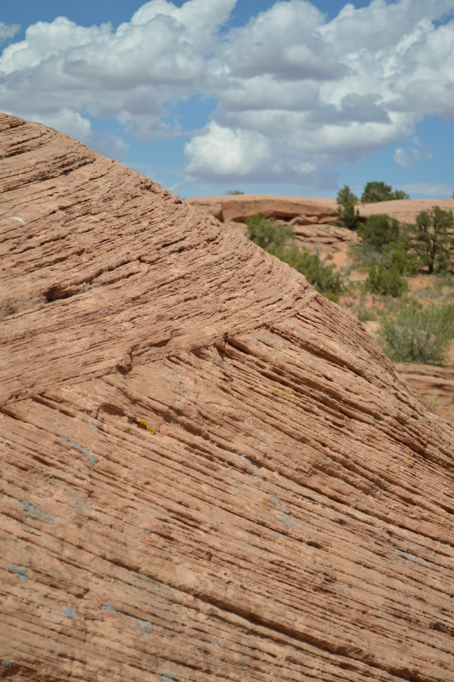 Close up of fossil sand dune near Moab UT