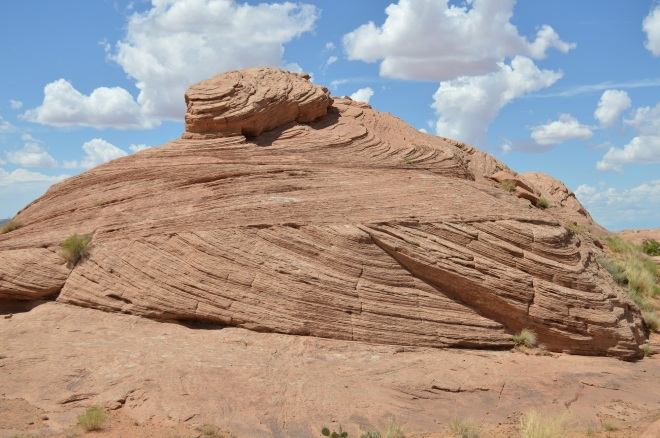 Fossil sand dune in slick rock area just east of Moab UT.