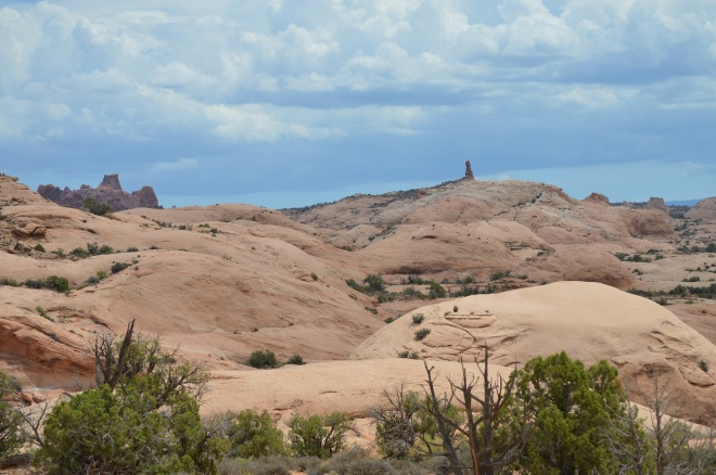 Fossil sand dune in Arches National Park just 10 miles north of the slickrock area above Moab UT. Image Credit: Joel Duff