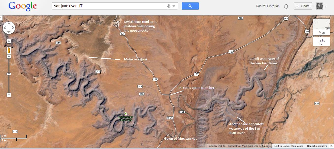 San Juan River Utah Map.Nh Photography Goosenecks Of The San Juan River Naturalis Historia
