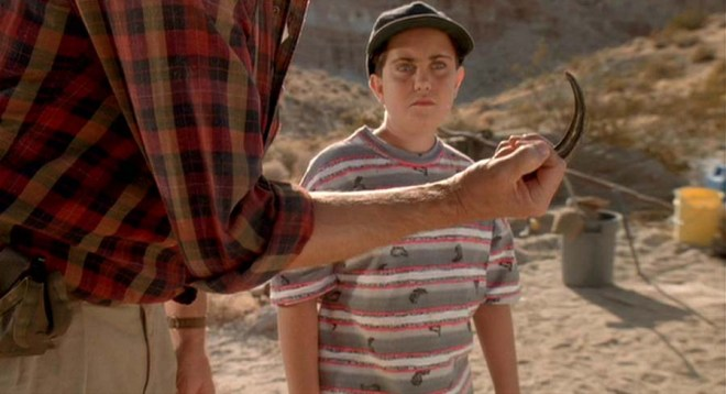 A raptor claw as shown in this screen shot from the movie Jurassic Park.