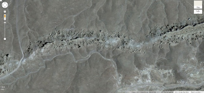 Another close-up satellite view of the paleochannel in Utah.