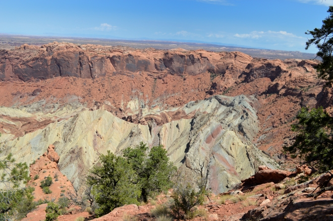 Upheaval dome looking north.Photo: Joel Duff