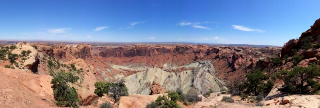 "A panoramic shot taken with my phone of the whole dome area and ""crater"".  Photo: Joel Duff"