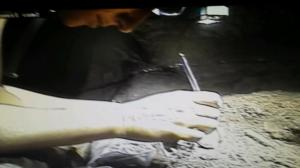 Image from LeeBerger twitter feed: Becca in the hominin fossil zone #risingstarexpedition pic.twitter.com/DvxHivMQuF