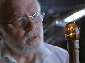 The premise of Jurassic Park was that DNA was retrieved from blood in insects trapped in amber. Repeated tests of amber dated to be millions of years old has thus far yielded no evidence of intact DNA molecules.