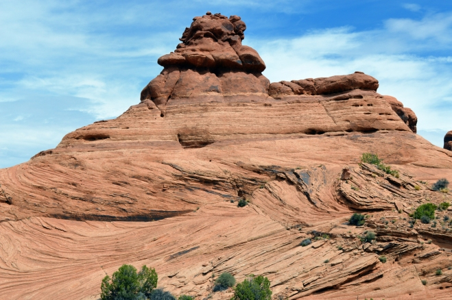 Petrified sand dune in Arches National Park near Balancing Rock.
