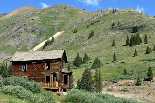 House in the ghost town of Animas Forks near 12,000 feet high in the San Juan Mountains near Silverton Colorado.