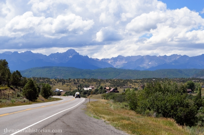 Approaching the San Juan Mountains in southwest Colorado from Montrose Colorado