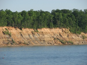 Calvert Cliffs along the Chesapeake Bay in Maryland. http://camano130.blogspot.com/2010/05/family-and-friends-through-maryland.html