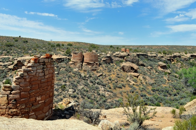 Hovenweep National Monument in southeastern Utah in late July of 2013.