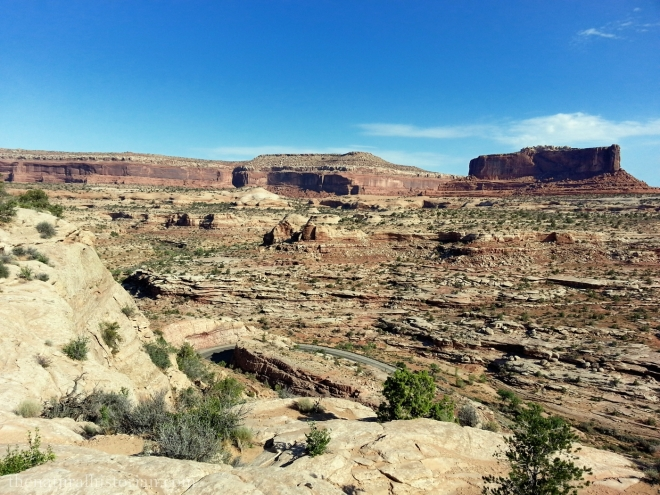 On the road from Moab to Dead Horse Point State Park.