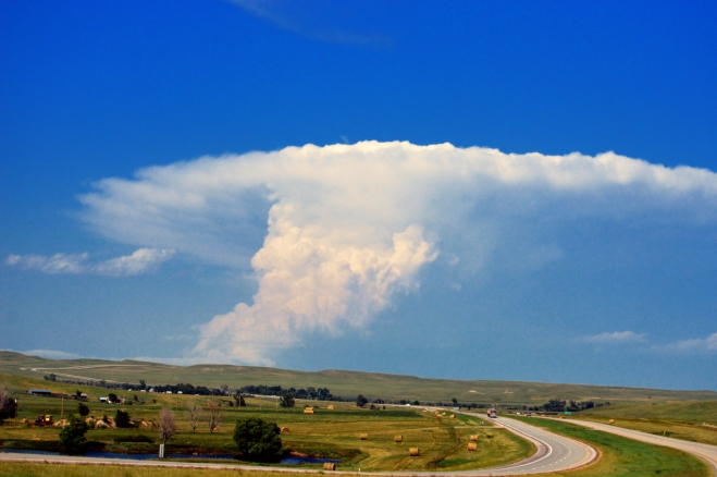 Thunderhead builds over Rapid City SD. Photo: Joel Duff