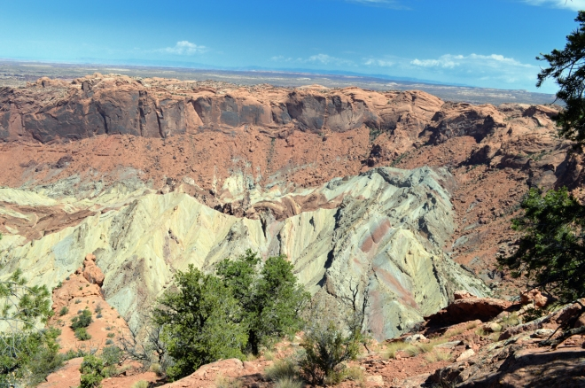 Upheaval Dome in Canyonlands National Park.