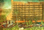 Artist conception of the Ark exhibit at the Ark Adventure.   I assume the palm trees are not planned for Kentucky.  Image from AIG Ark Aventure site.