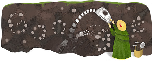 Mary Anning homage on Google today.  Image credit: Google Inc.