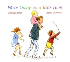 "My poem is an adaption of the children's classic ""We're going on a bear hunt"" by Michael Rosen. This is one of my daughter's favorite books."
