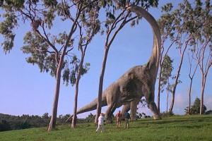 Scene from Universal Studios Jurassic Park.