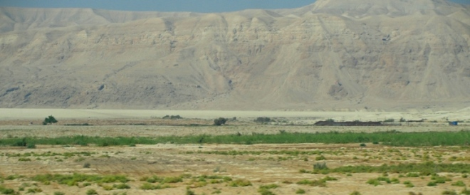 The Jordan Valley above the Dead Sea.