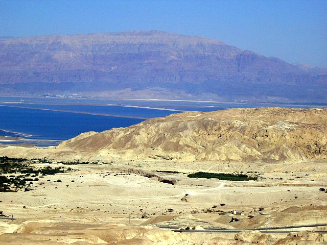 Mt. Sodom looking from the West out toward the Dead Sea.  Mt. Sodom is in the foreground.