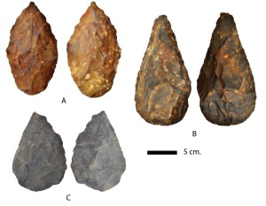 A sample of hand-axes found at Kathu.