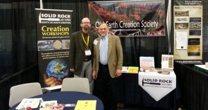 Myself (Joel) and Ken Wogelmuth at the Solid Rock Lectures booth at ETS 2014.