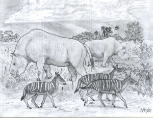 two_herbivores_from_miocene_south_america__2011___by_jwmorenob-d4nimlh