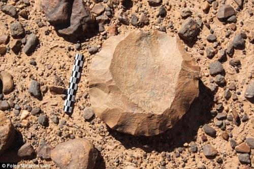 Hand axe from southern Libya desert