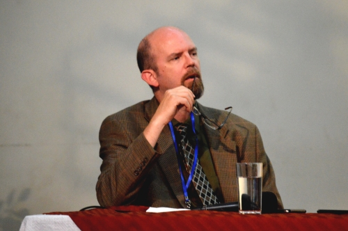 Yours truly looking reflective while a member of a panel discussion at a conference last week in Guatemala. I am probably just having a hard time answering an off-the-wall question posed by an audience member. Fortunately I was allowed to speak at this conference and had a wonderful time with a very engaging audience.