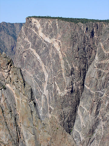 Black Canyon of the Gunnison River in Colorado. Image credit: Molas at English Wikipedia - Transferred from en.wikipedia to Commons by Leoboudv using CommonsHelper.