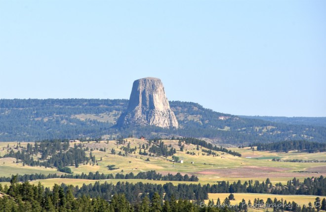 Getting closer to Devils Tower from the south. Image: Joel Duff, June 2016