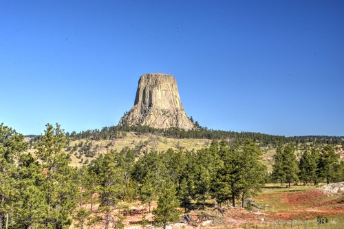 Devils Tower, Wyoming. HDR composition looking from the south. Image:  Joel Duff, June 2016.