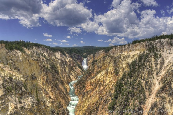 Yellowstone Falls in Yellowstone National Park in Wyoming. Photo: Joel Duff, June 2016.