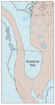 General area covered by the Sundance Sea in the Middle Jurassic.