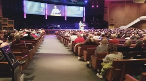 Ken Ham speaks at a conference a few weeks ago in Ohio.